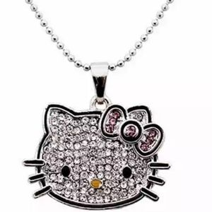 Hello Kitty Crystal Pendant w/ Bonus Stocking
